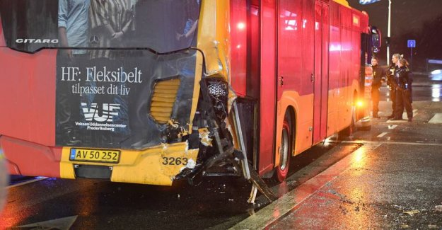 A man is seriously injured after a traffic accident in Copenhagen