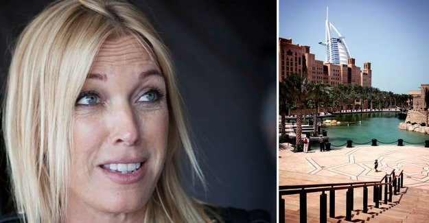 After the surgery: Linda Lindorff forced to be left alone in Dubai