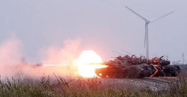After threats of China: Taiwan battle holds exercises
