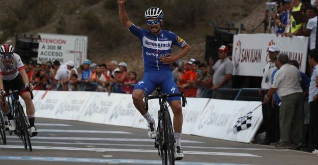 Alaphilippe wins second stage in San Juan, Evenepoel grabs after a fine performance jersey for best young rider: Toughest kilometers in my life