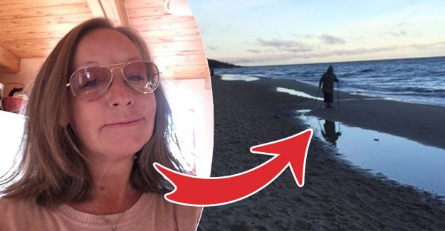 Anna-Karin sank into the quicksand – right on the beach: Now I die