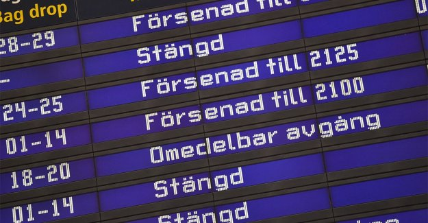 Arlanda airport is forced to close courses due to adverse weather conditions
