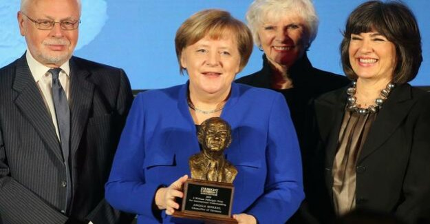 Award of the Fulbright prize : Merkel: Global Prosperity is national Prosperity