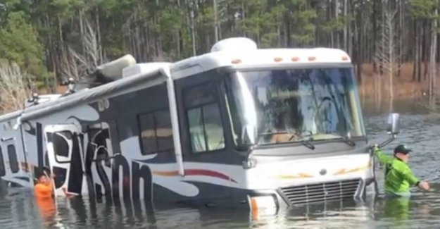 Bad dog! Sets million-the motorhome in reverse
