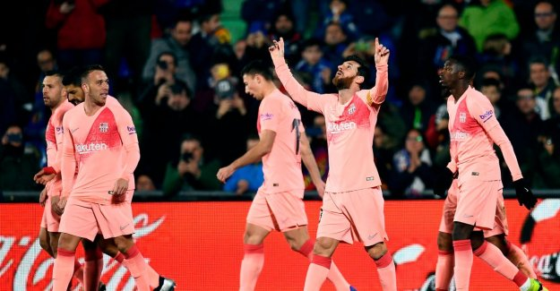 Barcelona crown to the winner of the Spanish voetbalweekend after uitzege at Getafe: Messi and co are just five points ahead in La Liga