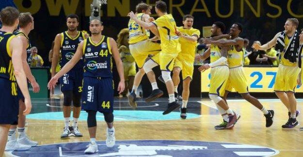 Basketball-Bundesliga : Alba Berlin loses something of a surprise in Braunschweig
