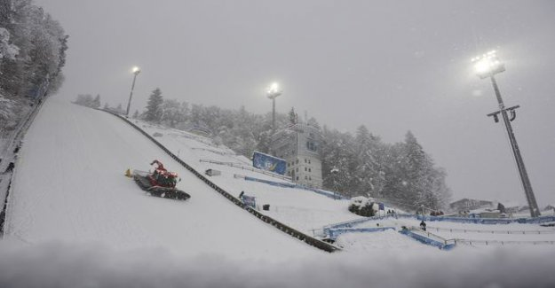 Bischofshofenin have snow chaos - qualifying competition was canceled