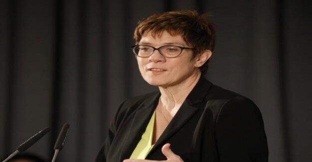 CDU-Chefin : Kramp-Karrenbauer cautious about Jamaica-covenants