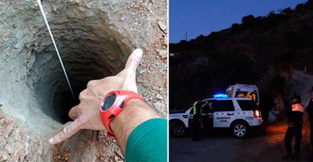 Christmas, 2, fell down in a deep hole – the big bet