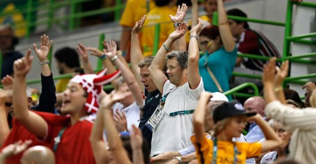 Crown prince Frederik opens the handball WORLD championship in the Royal Arena