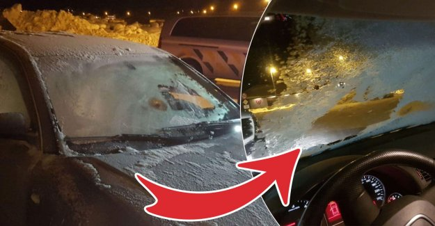 Drivers drove with frost on the car window – notified