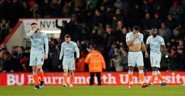 Embarrassing result: Chelsea got the wicked itch