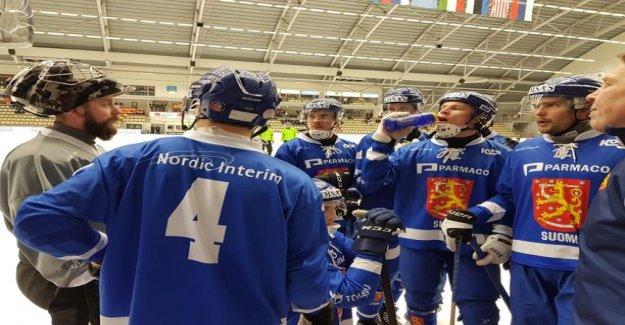 For finland, the bitter defeat bandy world championships in Russia struck at the last moment