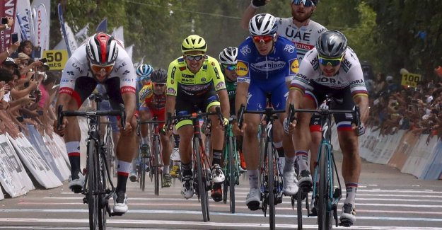 Gaviria for the second time at the feast in Argentina, Deceuninck-Quick Step fits for award ceremony