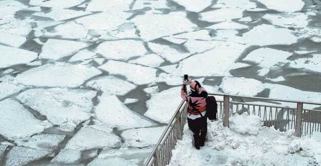 Icy cold in the US : Felt like minus 45 degrees