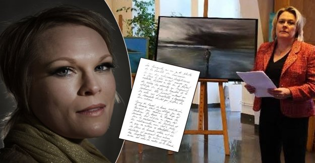 Ida Boström's letters to his family – was read out at the funeral