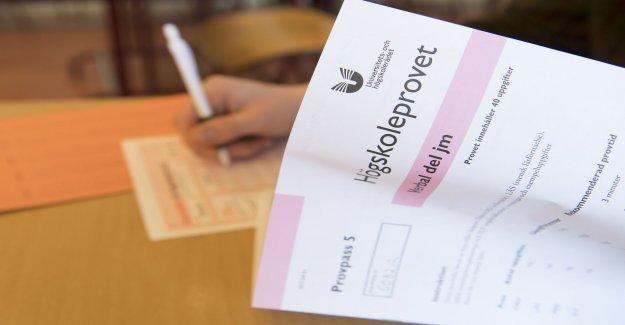 Judgment after fuskpaket for better test scores