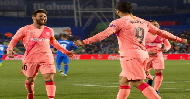Lionel Messi and Luis Suarez hit back – Barcelona opened the year triumphantly