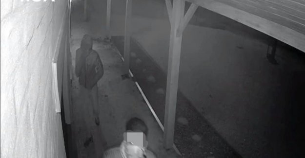 Masked men sneaking around a farm and try owner out to lure
