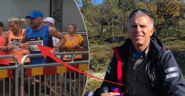 Michael, 56, collapsed unconscious during the race – was rescued by Göran