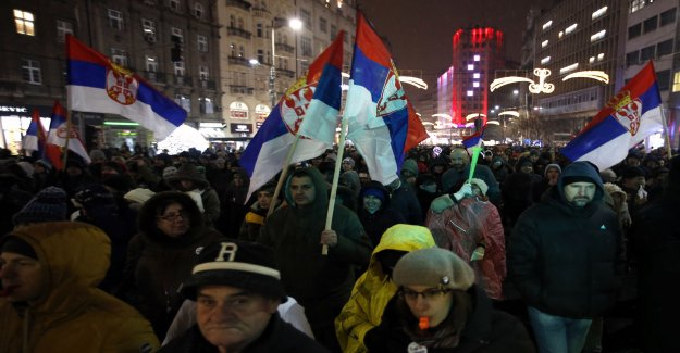New march against the president of Serbia