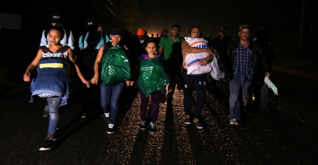 New migrants-caravan on the way to the USA