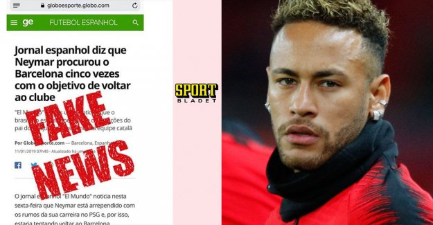 Neymars anger after the rumor: the Lies make me angry