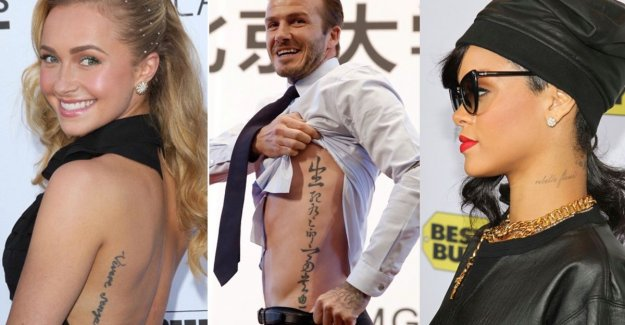 Oops, embarrassing! Also these stars have the camels of spelling errors in their tattoo to stand
