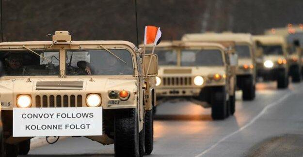 Operation Atlantic Resolve : U.S. troops drive through Brandenburg