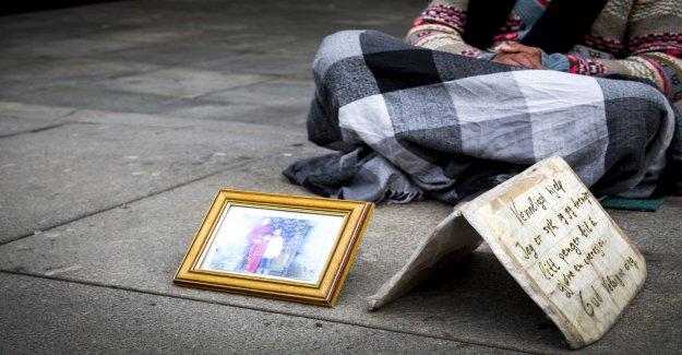 Police have begun to reject the beggar in Vellinge, sweden
