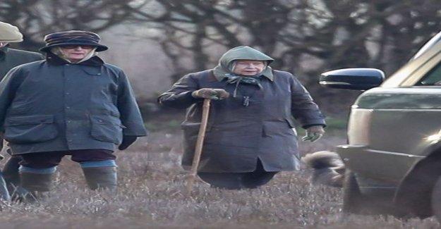 Queen Elizabeth II, 92, took her daughter, 68, hunt, action-packed image sequence