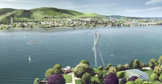Residents shows ZKB-chief because of the cable car over the lake