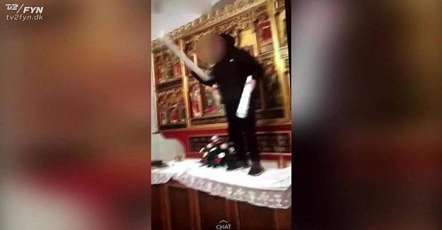 Rockets and dancing at the altar: Young, committed gross acts of vandalism against the church