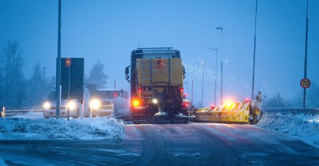Several traffic accidents in the snöfallets track