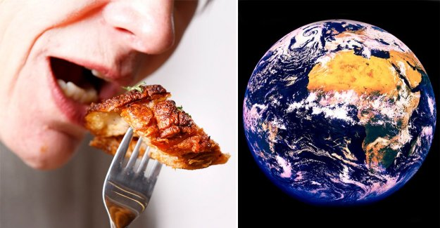 So a bit of meat, you need to eat for eating to save the earth