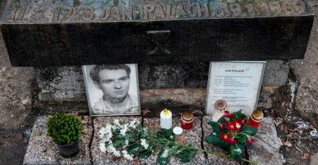 Student Jan Palach burnt himself 50 years ago in a fire at Sovjetbezetting Czech-Slovakia