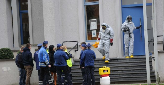 Suspicious powder letter arrived at town hall