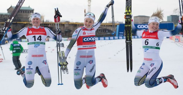 Swedish sprinttrippel in Dresden: So proud
