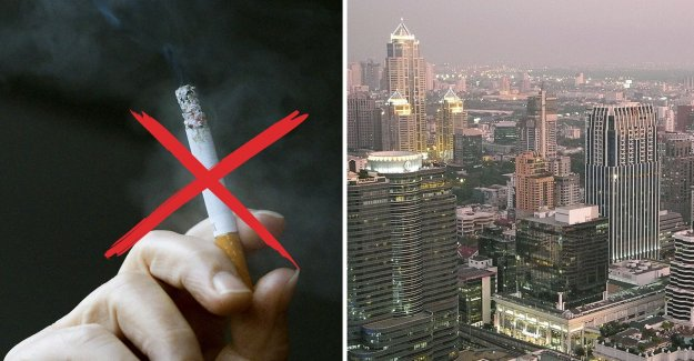Thailand bans smoking in public places