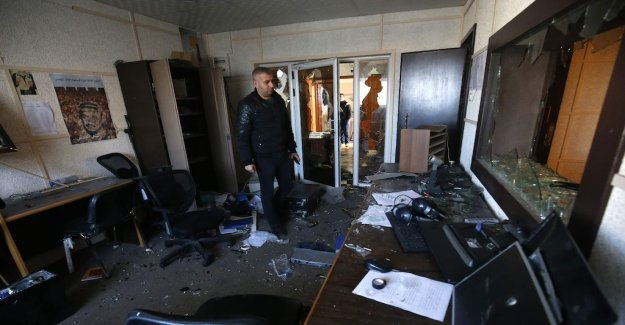 The Tv editorial office in Gaza vandalised