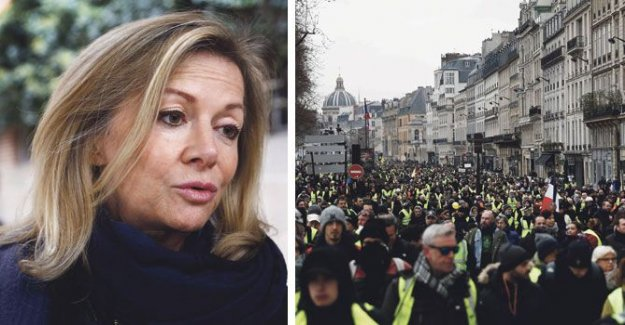 The ambassador chased away the violent protesters in Paris