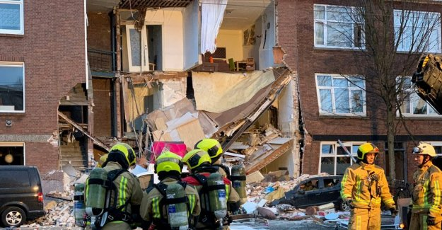 The strong explosion was the house to crumble in the Hague