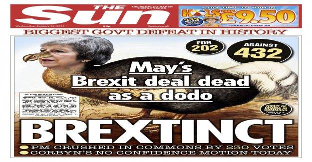 Theresa May mocked in the british media – after brexitfiaskot