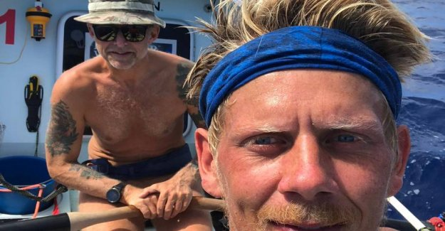 They did it! Here crosses the Danish rowers Atlantic ocean