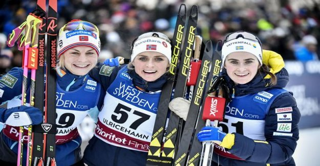 This will tell you a lot of Therese johaug's crushing superiority - another Norwegian not even want to practice with him