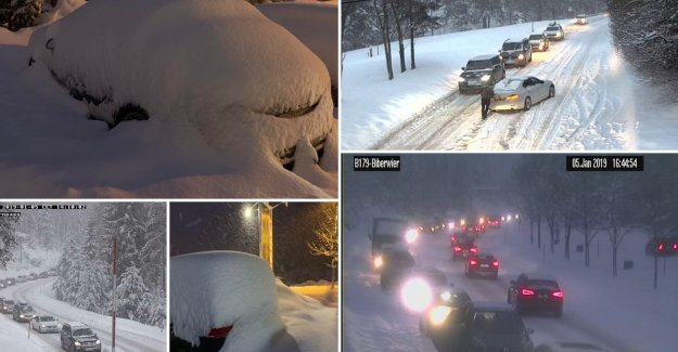 Traffic is wall - blocked between Austria and Germany, still today, suits snow expected, winter sports enthusiasts advised until tomorrow to return