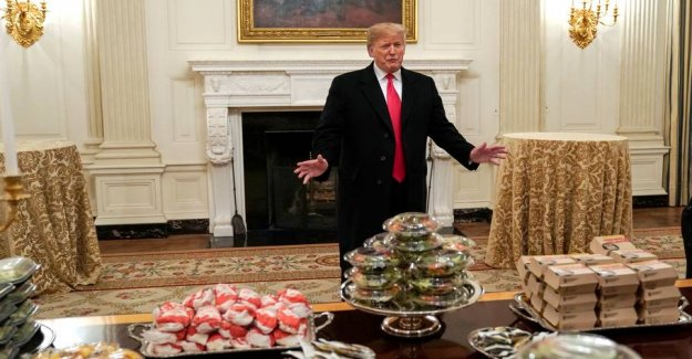 Trump received the visit of the athletes – and went crazy in the fast food