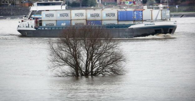 Two cargo ships collide : 2000 liters gas oil in the Rhine