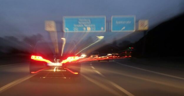A10 between the Pankow and Birkenwerder : Berliner Ring from Friday night