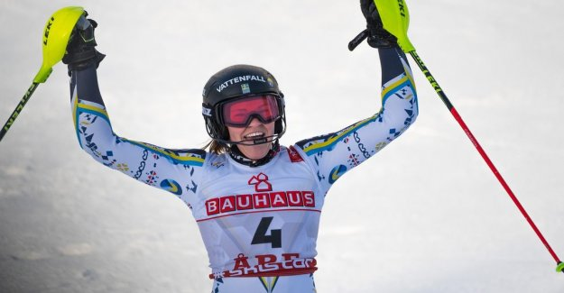Anna Swenn-Larsson took silver in the world CUP slalomen